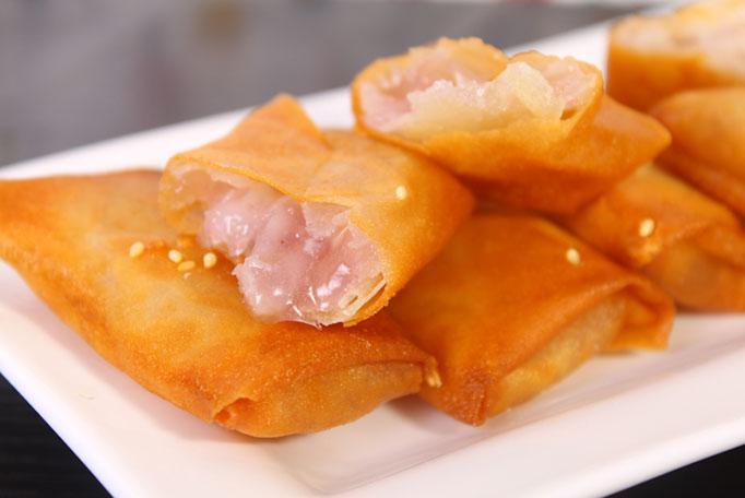 香芋派:精选优良芋头做包馅,外表松脆可口,您又岂能错过!